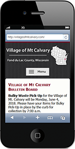 Village of Mt. Calvary, Fond du Lac County