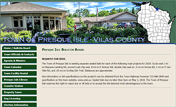 Town of Presque Isle, Vilas County, WI